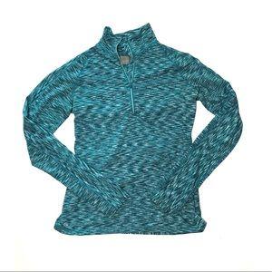 Athleta Blue Mendoza Half Zip Pullover